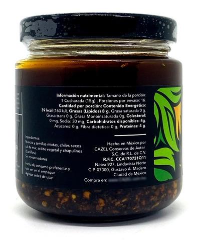 salsa de chapulines oaxaqueños con nueces y semillas 220g