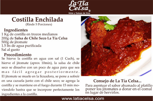 salsa de chile chipotle 250g (8 pieza) en pasta la tía celsa