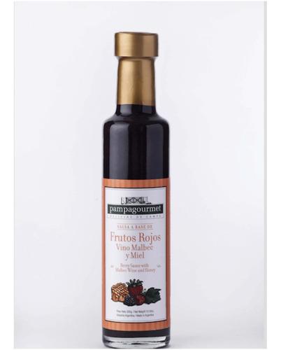 salsa de frutos rojos, malbec y miel - 300grs