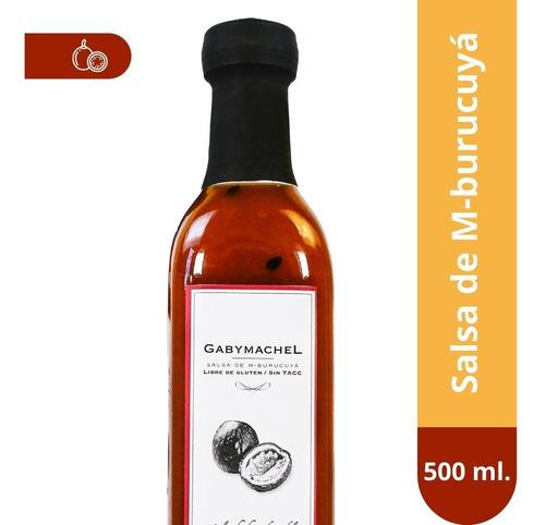salsa de maracuya gaby machel  x500 mml - línea gourmet