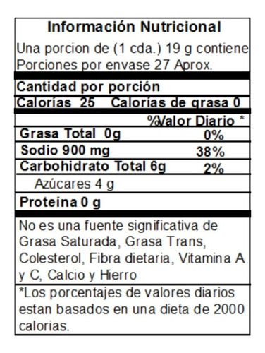 salsa de ostras tassya 260g - unidad a $18900