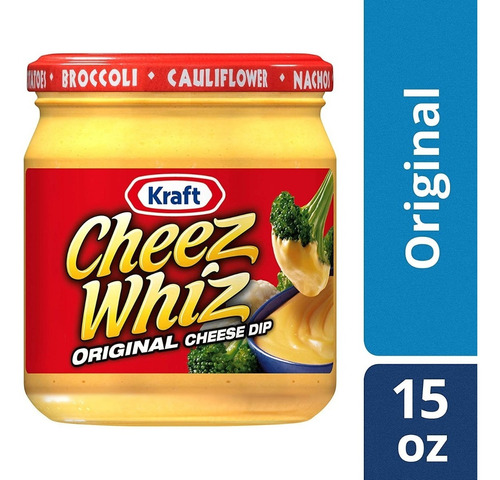 salsa de queso kraft cheez whiz original 425g