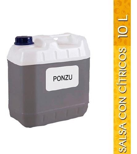 salsa de soya preparada con cítricos (ponzu) 10 litros