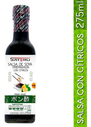salsa de soya preparada con cítricos (ponzu) 275ml