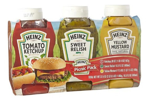 salsa de tomate heinz x 567 g + mostaza h - g a $30