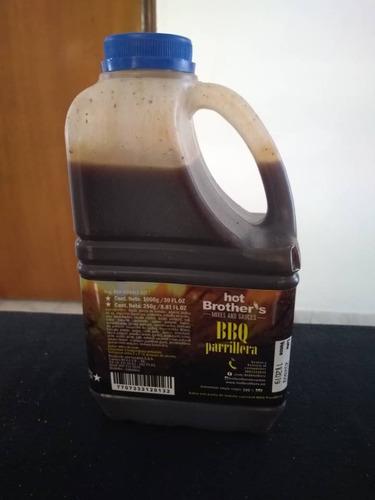 salsa gourmet bbq parrillera 1kg para restaurantes, cocina