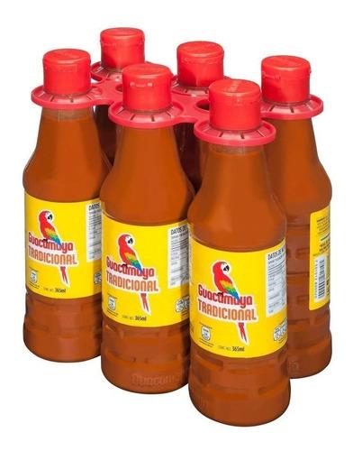 salsa guacamaya picante tradicional 6 pzas 375ml