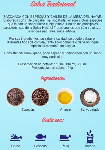 salsa huichol de 190 ml pieza negra habanera limon botanas