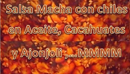 salsa macha con cacahuate y ajonjoli 1 litro envio gratis
