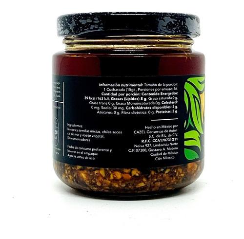salsa macha con nueces y semillas oaxaca 220g