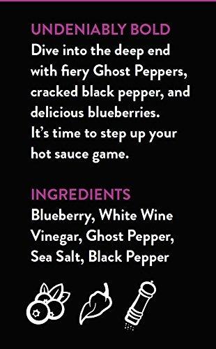 salsa picante de especias bravadas, pimiento fantasma y