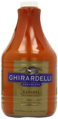 salsa saborizada de chocolate, caramelo cremoso, 90.4onzas,
