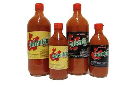 salsa valentina litro etiqueta negra importada mexicana!