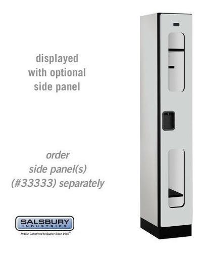 salsbury industries 1tier designer locker de madera con una