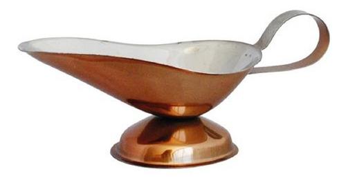 salsera de acero color cobre