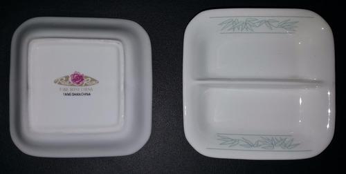 salsera porcelana sushi x1 + apoya palitos x 1 - impecables