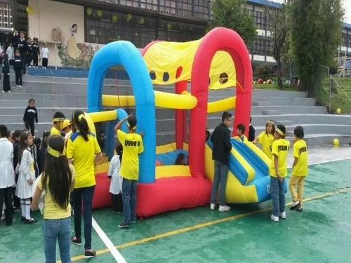 saltarin inflable grande con motor