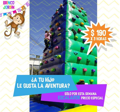 saltarines inflables, fiestas infantiles,escalador, snacks