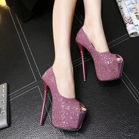 a2269bdd4 Sand Lia Stiletto Rosa Pink Salto Alto Feminino - Sapatos no Mercado ...