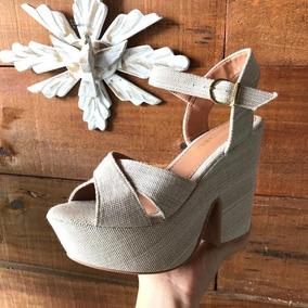 986257251 Arezzo Sandalia Anabela Salto Corda Feminino Sapatos - Sapatos com o  Melhores Preços no Mercado Livre Brasil