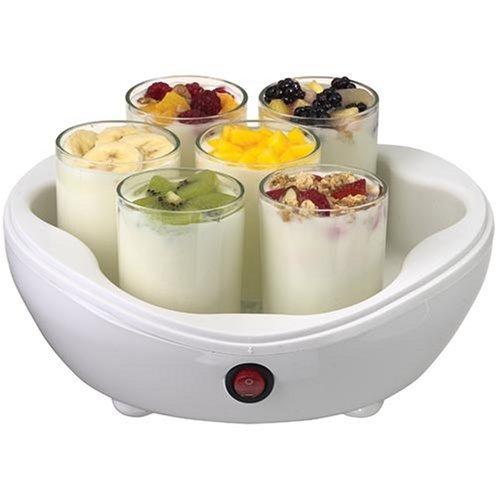 salton ym7 42 onzas eléctrico yogurtera con 7 frascos de vid