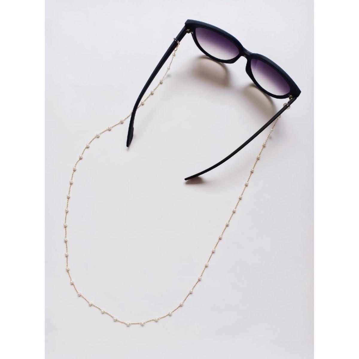 Salva Óculos - Corrente Dourada - R  26,00 em Mercado Livre c951c54696