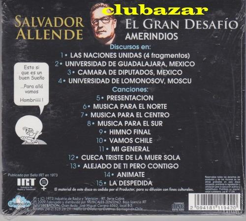 salvador allende cd el gran desafio chile 2009 nuevo sellado