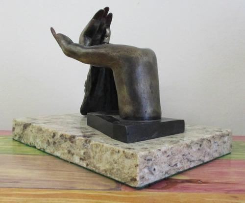 salvador dali  tiempo  escultura en bronce