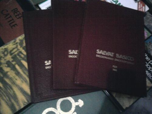 salvat basico diccionario enciclopedico, tomos 4,6 y 10