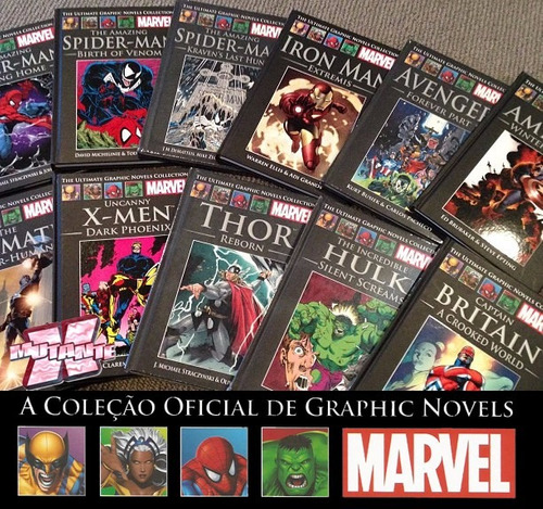 salvat graphic novels da marvel a partir de 40,00 cada!