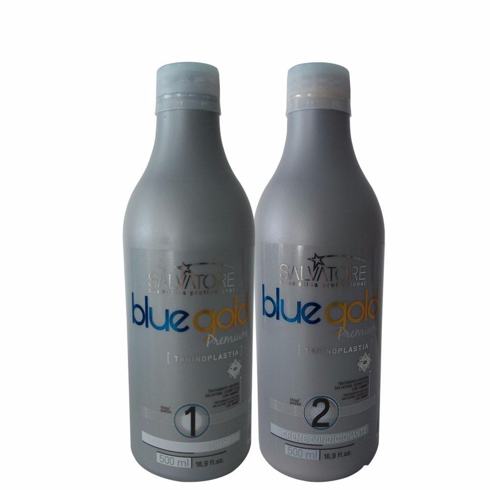 e147ed88bdf91 salvatore progressiva blue gold premium sem formol 2x500ml. Carregando zoom.