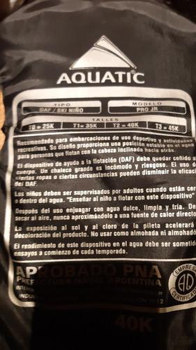 salvavida chaleco  de rio para niños 40 kg pro jr