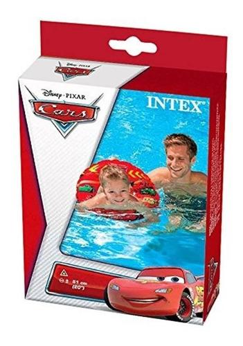 salvavidas infantil diseño de cars 51cm vinilo rojo intex
