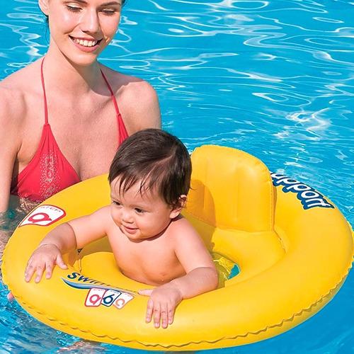 salvavidas inflable flotador de bebe de pileta redondo 69 cm