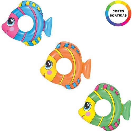 salvavidas inflable pecesitos x 3 unid pileta bestway 36111