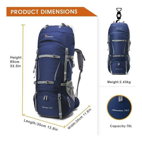 salveque mountaintop 70l+10l marco interno mochila
