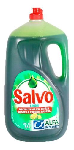 salvo limon detergente liquido para lavar trastes 2.6 lts