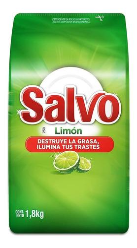 salvo limón lavatrastes quitagrasa polvo 1,8 kg