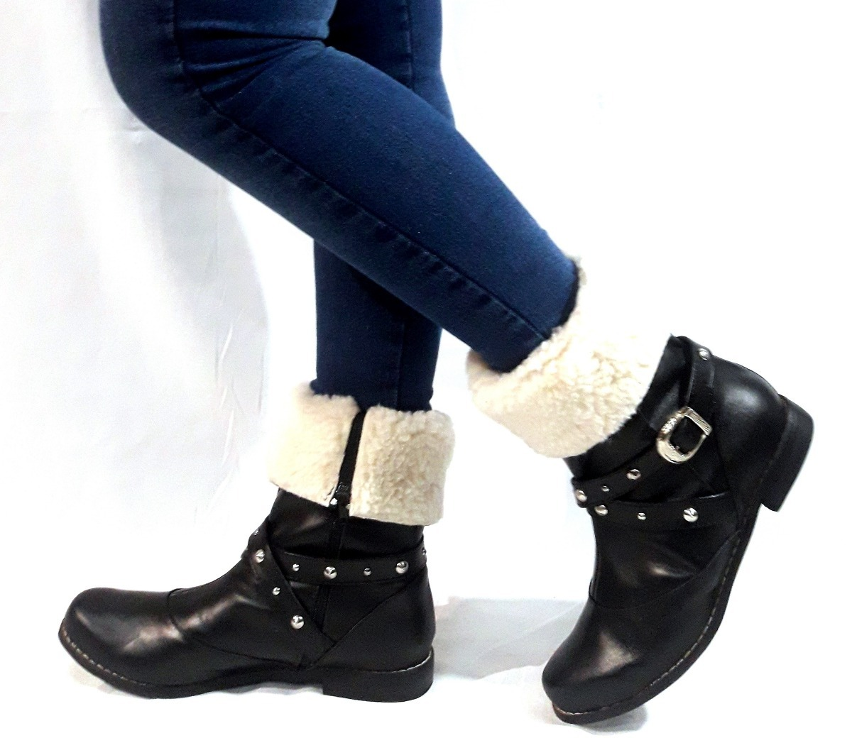 cfd54f5a4 sam123 botas cortas mujer talle grande oferta 016cor negras. Cargando zoom.