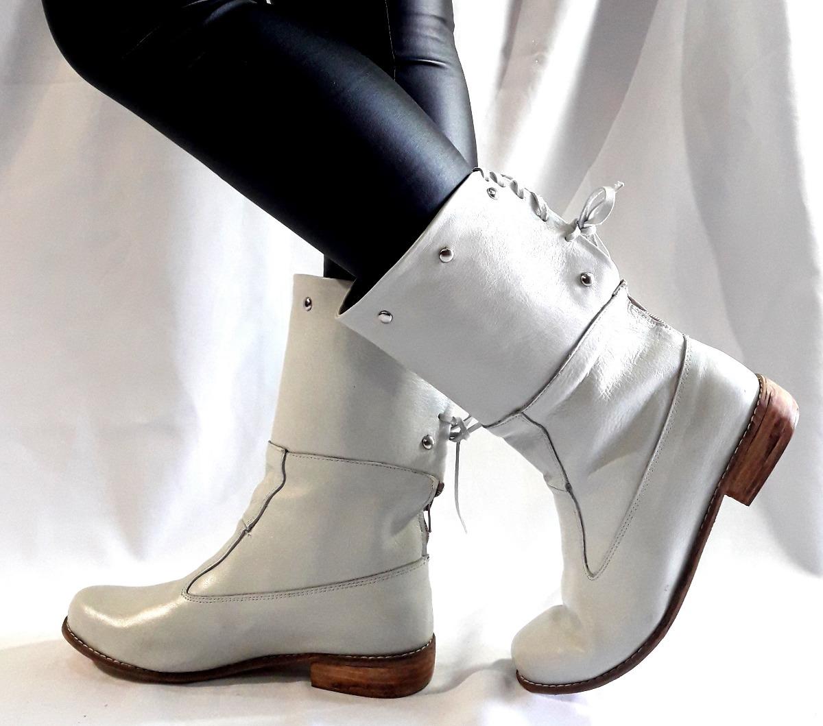 d4ec2929e sam123 botas cortas talles grandes cuero mujer 024 hueso. Cargando zoom.