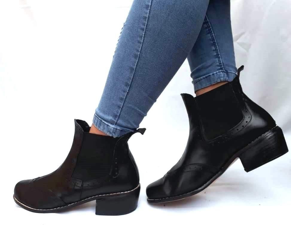 96fb7d72c sam123 botas cortas talles grandes cuero mujer 15p negra. Cargando zoom.