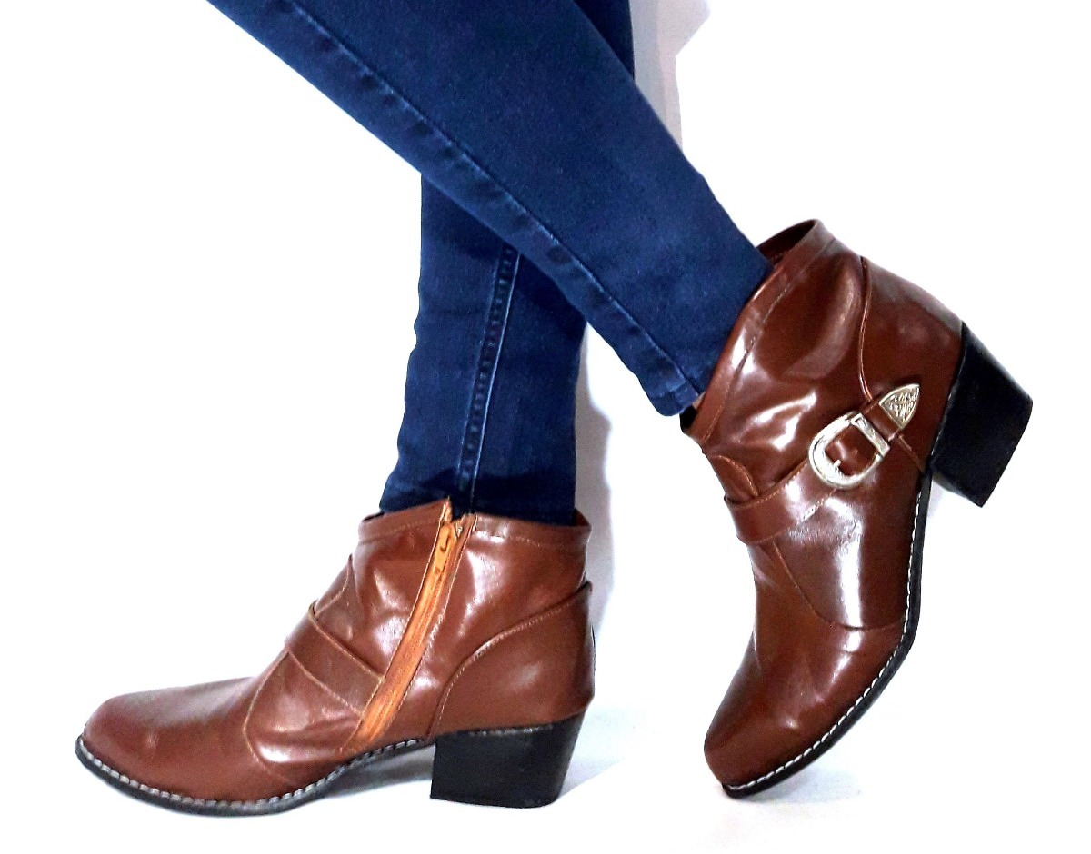 b0f48263d sam123 botas cortas talles grandes cuero mujer lopy choco. Cargando zoom.