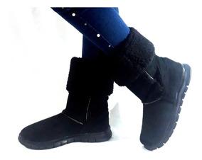 Botas negras con peluche