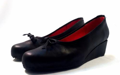 sam123 zapatos taco chino de cuero talles grandes negro