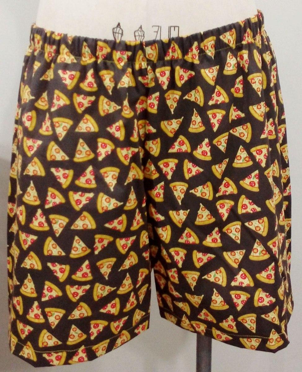 9f80ea3431aa05 Samba Canção Shorts Algodão Pizza Tamanho Extragg 46 48