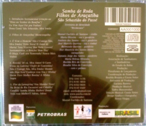 samba de roda filhos de araçatiba - cd ( 2014 )