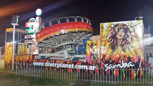 samba-toro mecanico-bungee jumping-barco pirata-simuladores