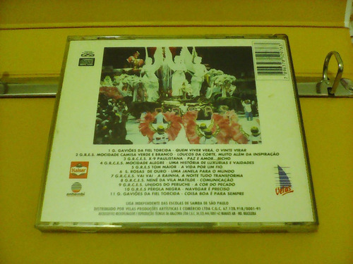 sambas de enredo - carnaval 1996 - são paulo - cd