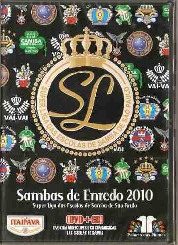 sambas de enredos -super liga das escolas de samba, dvd + cd
