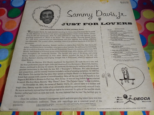 sammy davis, jr lp sings just for lovers